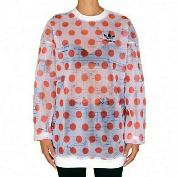 529edcfd6c925 Adidas Osaka Mesh Streetwear Sweatshirt NWT